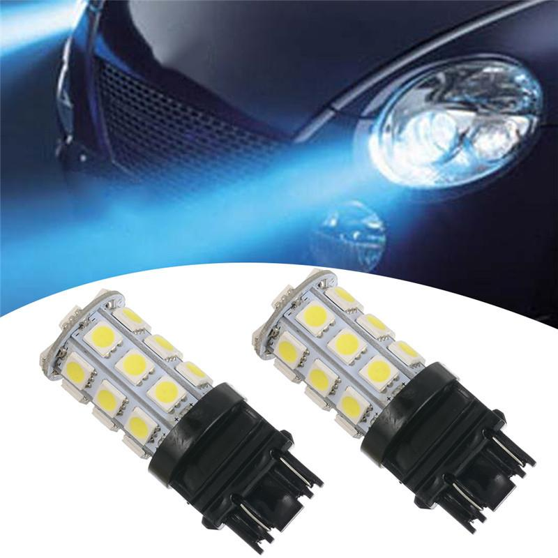 2X 3157 White 18 SMD 5050 Reverse Brake Turn Backup LED Light 12V US