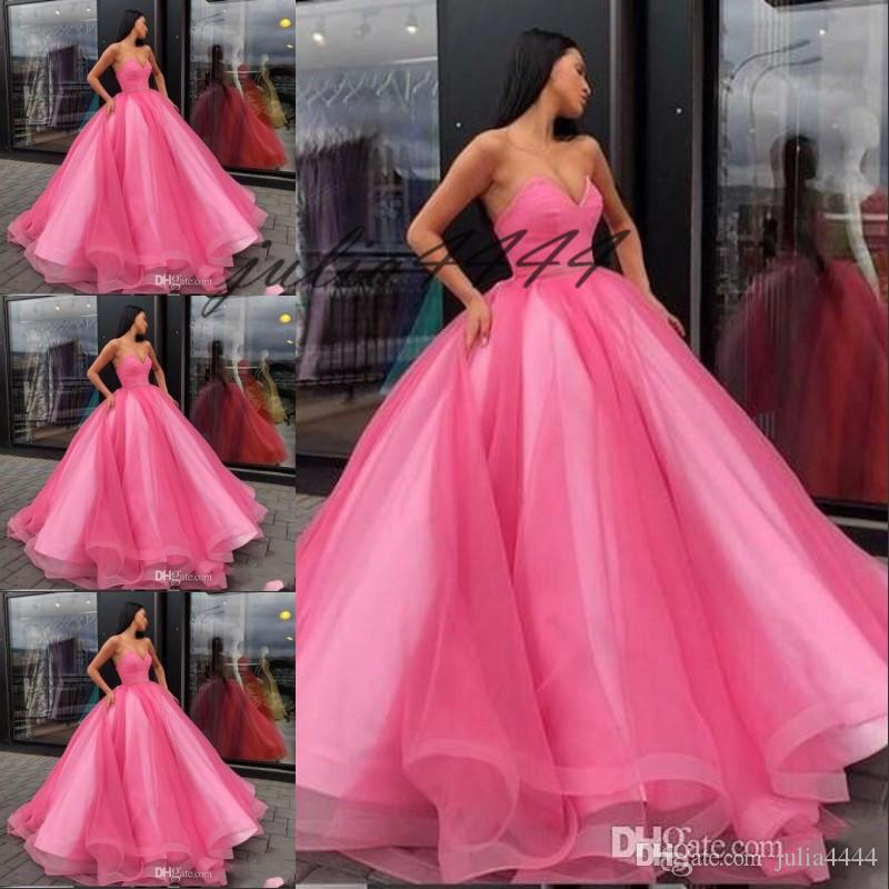 Princess Pink Tulle Quinceanera Dresses Puffy Ball Gown Sweetheart Sleeveless Fit and Flare Custom Made Formal Gowns Sweet 16 Dress