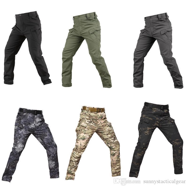 Outdoor Sports Woodland Caça Tiro Tático Camo Pants Combate IX7 Calças Camuflagem Calças Softshell NO05-209