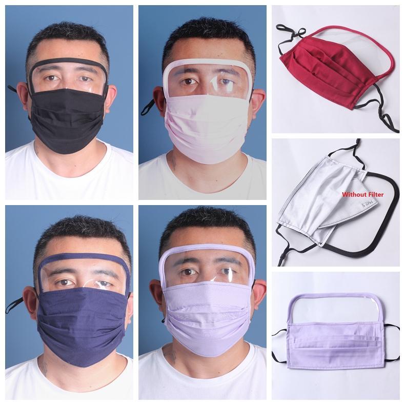 Yüz Shield 1 Anti Toz Filtresi Tam Yüz Göz Koruma Anti Sis Yıkanabilir Yüz Ağız Koruyucu Maske içinde 2 Maske