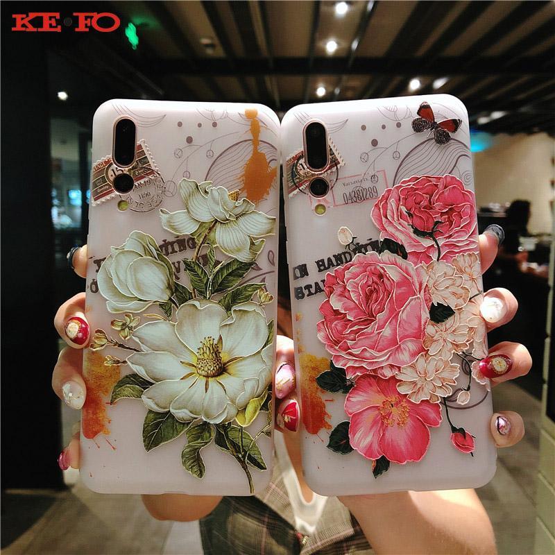 Coque TPU Ultra Mince Et Souple Pour Huawei P20 Pro P10 Plus P20 Lite Relief 3D Feuilles Floral Relief Pour Huawei Mate 10 Pro Honor 10 Proposé Par ...
