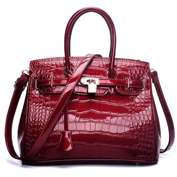 çanta tasarımcısı tasarımcı çanta patent pu deri bayan moda kılıf cüzdan çanta moda tek omuz çapraz vücut çanta
