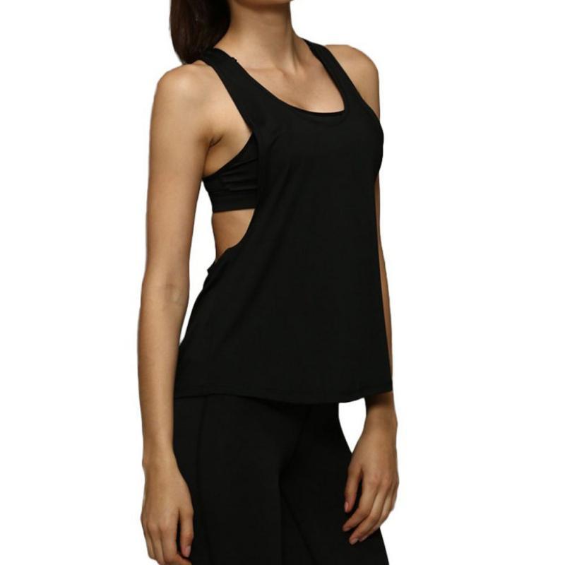 Magnifique! Femmes Crop Top Quick Yoga sec en vrac Chemises Gym Fitness Sport Gilet sans manches singlet formation Hauts Spandex, polyester