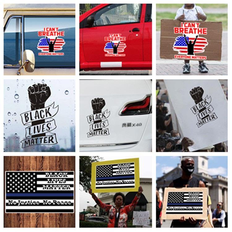 hot Creative fist Sticker self-adhesive Black lives matter car sticker PVC sticker everyone matter Decorative Stickers T2I51089