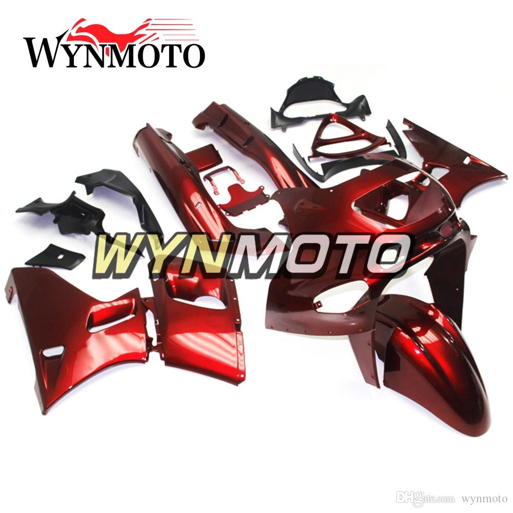 Full Fairings For Kawasaki ZZR400 1993 - 1997 NINJA ZZR-400 93 94 95 96 97 Injection ABS Plastic Motorcycle Bodywork Gloss Red Pearl Covers