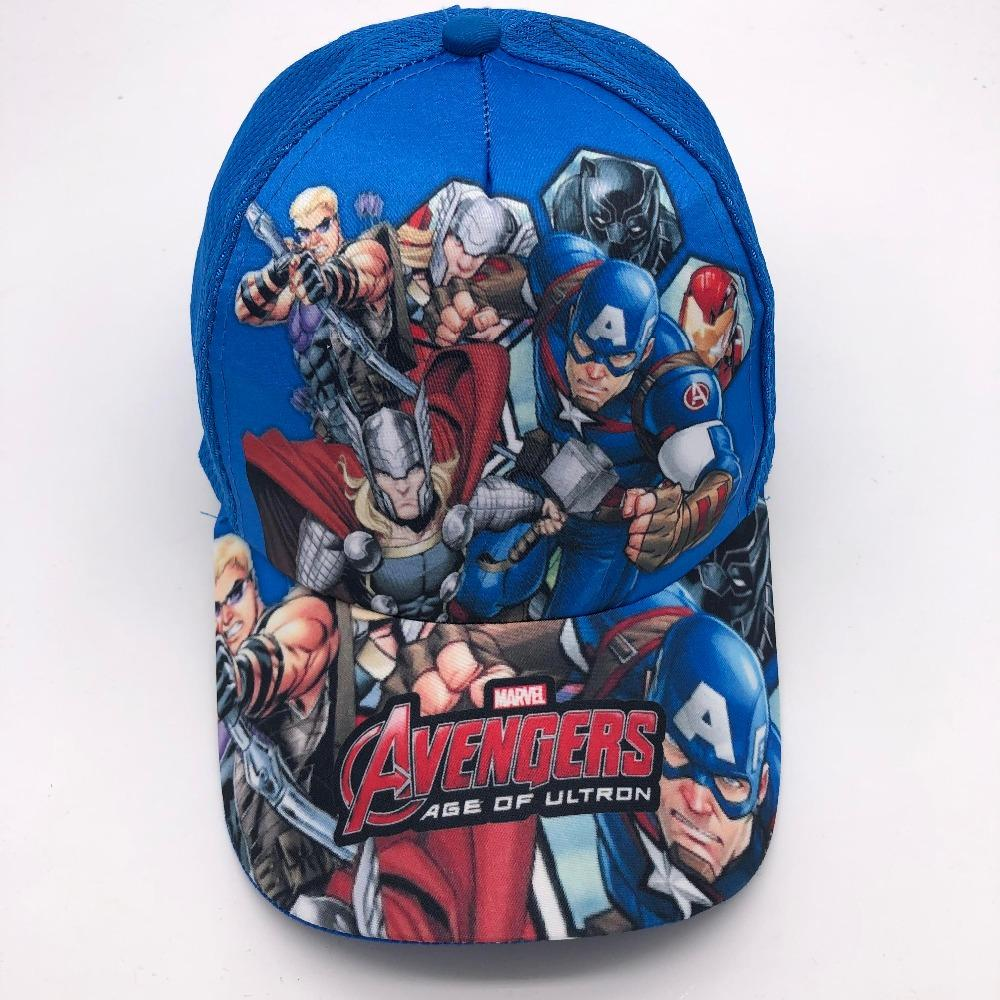 The Avengers Spiderman Iron Man Captain America Sunhat Cosplay Kids Snapback Lot