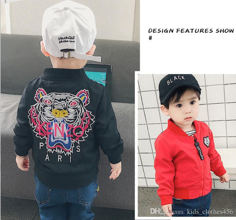 봄 가을 재킷 새 도착 의류 아기 소년 코트 만화 인쇄 비행 재킷 가을 어린이 겉옷 어린이 옷