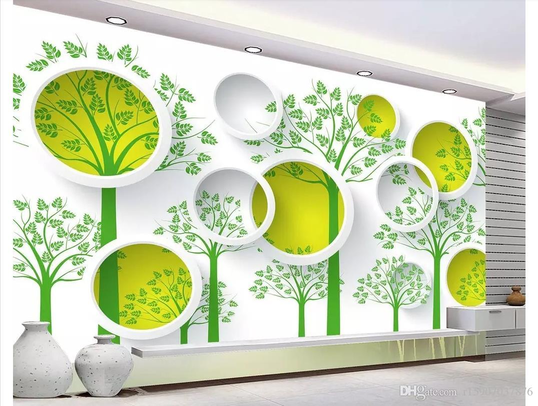 3D wallpapers custom photo mural wall paper Forest circle simple stylish modern 3D TV background wall papel de parede