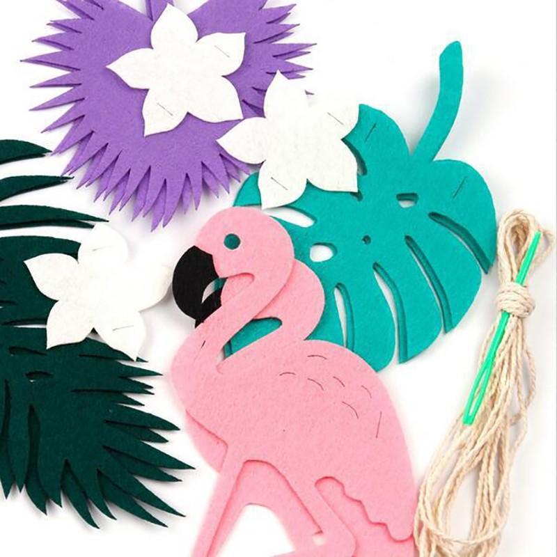 PSummer non tessuto Uccello forma di sfondo Partito P Banner Festive Tree Forest Flag Forniture decorazione foglie