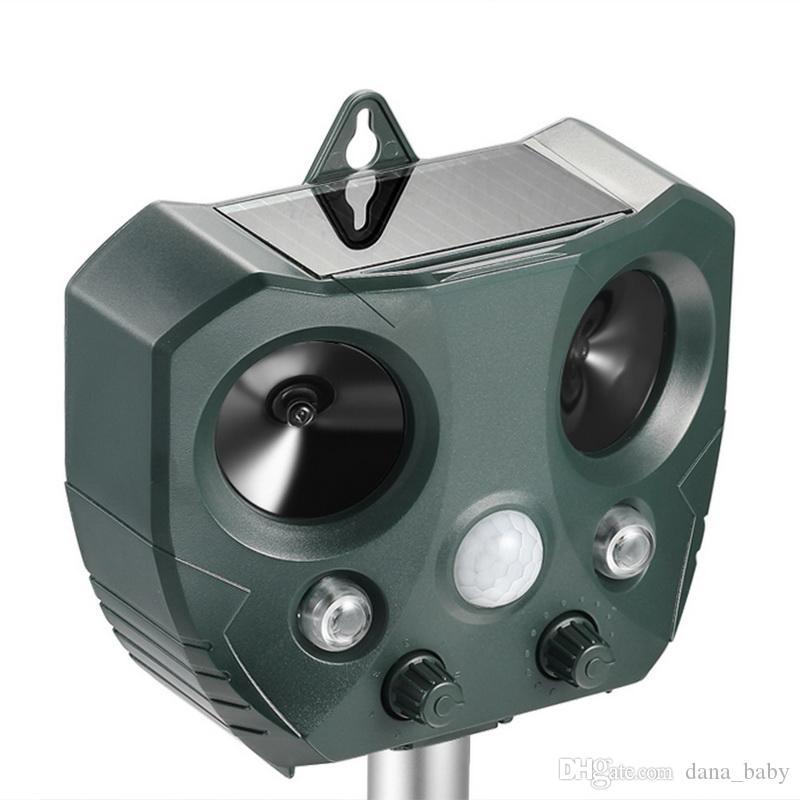 Owl Shape Electronic Outdoor Waterproof Solar Powered Bird Garden Animal Ultrasonic Solar Repeller