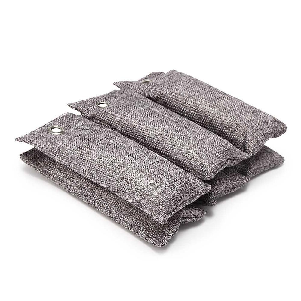 2pcs Sacs voiture charbon de bambou charbon actif Désodorisant Odeur Déodorant New charbon de bambou Sacs Closets chaussures Déodorant