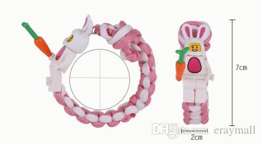 Лего строительный блок плетение персонажей мультфильма браслеты любовь студентов дети дешевые подарки браслет 2019 новый 517