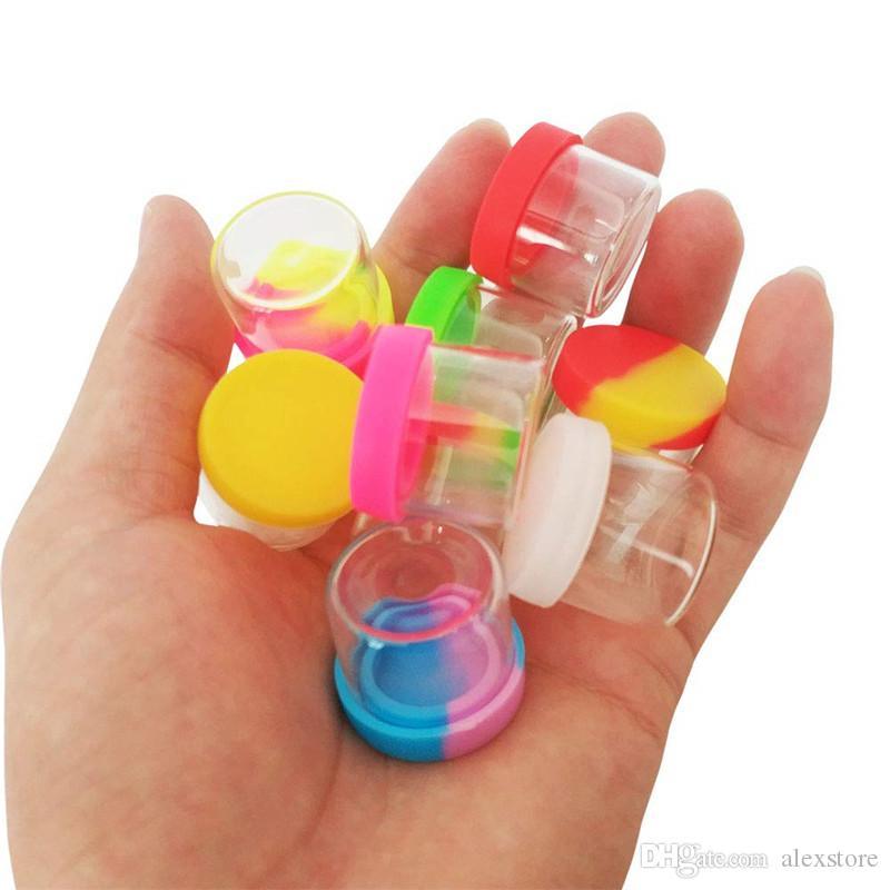 silikon kapak 6ml silikon kap yapışmaz balmumu konteynerle Cam şişe gıdada kavanoz vape için DAB alet depolama kavanoz yağ tutucu kutu