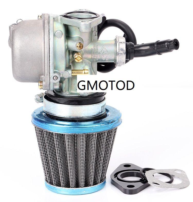 ATV 70CC 90CC 110CC carburateur amortisseur manuel PZ19 avec filtre à air de diamètre 35 mm