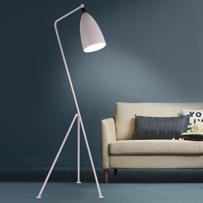 Modern demir boyalı Amerikan Tarzı Ayaklı Lambalar Ayarlanabilir Otel ışığı E27 LED AC 110V 220V çalışma için oturma odası başucu 90-265V okuma