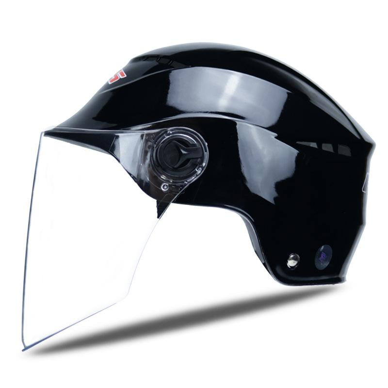Verão Segurança elétrica do capacete da motocicleta Mulheres Homem Capacete de Bicicleta Scooter Moto Casco Moto Capacete Tamanho