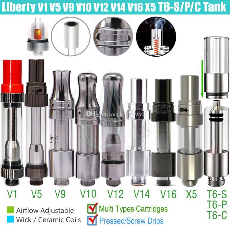 Authentic Itsuwa Amigo Liberty T6-S T6-P T6-C X5 V1 V5 V7 V9 V10 V12 V14 V16 T6S T6P T6C X6 Thanos Tcore Tank Cartridges 510 Carts Atomizers