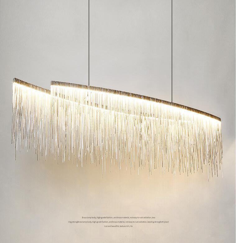Nordic lámpara colgante moderna del poste minimalista Personalidad Creativa Sala Comedor Bar borla de la lámpara de decoración