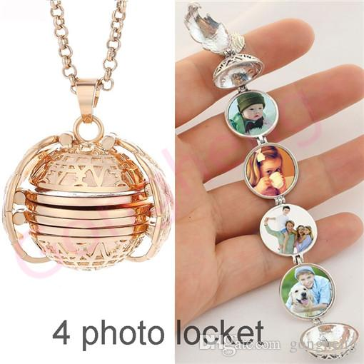 Lucky Angel Wings Wish Family Pet Photo Album Box Cage Locket Pendant Necklace Memory Charm for unisex