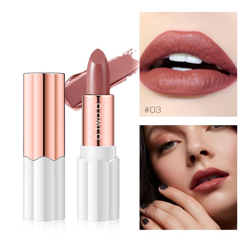 O.TWO.O Semi Matte Velvet Lipstick Lip Makeup Lipstick Long Lasting Waterproof Matte Beauty Tools lips Tint 20 Colors