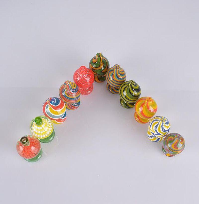 Neuestes Pyrexglas Handgemachte Rauchen Rohr Werkzeug Tragbare Innovatives Design Blasen-Carb-Kappen-Abdeckung Zubehör Bong Bohrinseln Hot Kuchen DHL-freie