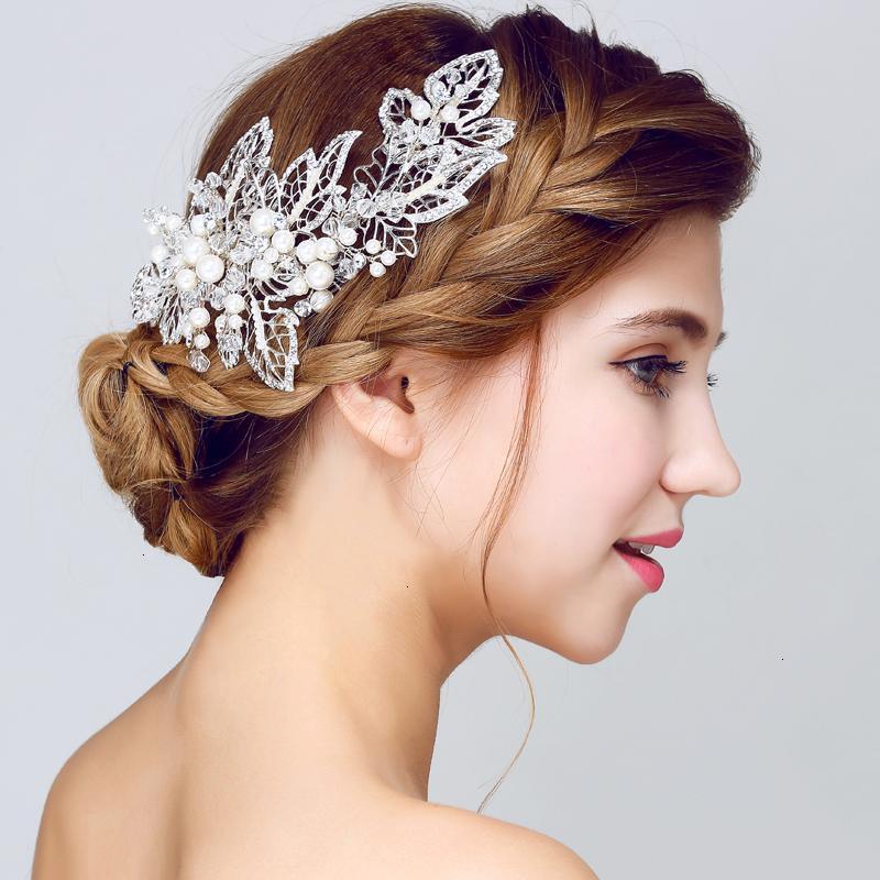 bijoux magnifiques mariage Accessoires cheveux peigne cheveux floral femmes bandeau de mariée perle ornements de cheveux hairband mariée diadème T191025