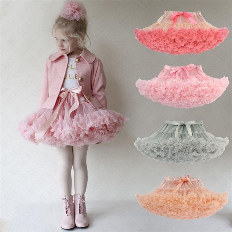 2020 Femmes Filles Tutu Jupe Lolita Pettiskirt Petticoat Dancewear élastique Parti Ballet robes en mousseline de soie Fluffy Tutus princesse jupe D61608