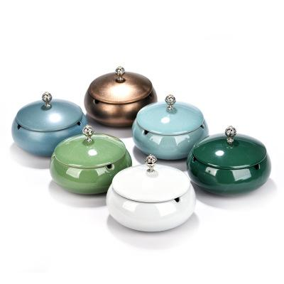 2020 new Home daily Nordic wall-mounted ashtray with cover cigarette storage rack Ceramic ashtray color ashtray