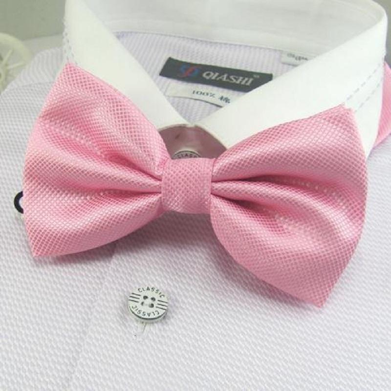2020 in der Art und weise Polyester Mens bowties für Männer rosa Schmetterling Individuelle Krawatte Geschenke