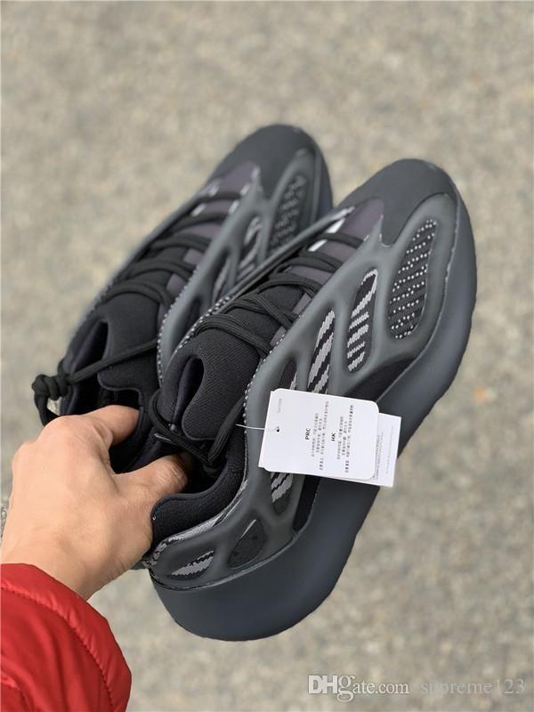 Hottest Kanye West Originals 700 V3 Black Azael Running Shoes 3M reflexiva corredor da onda Homens Mulheres Sports Sneakers Com Box