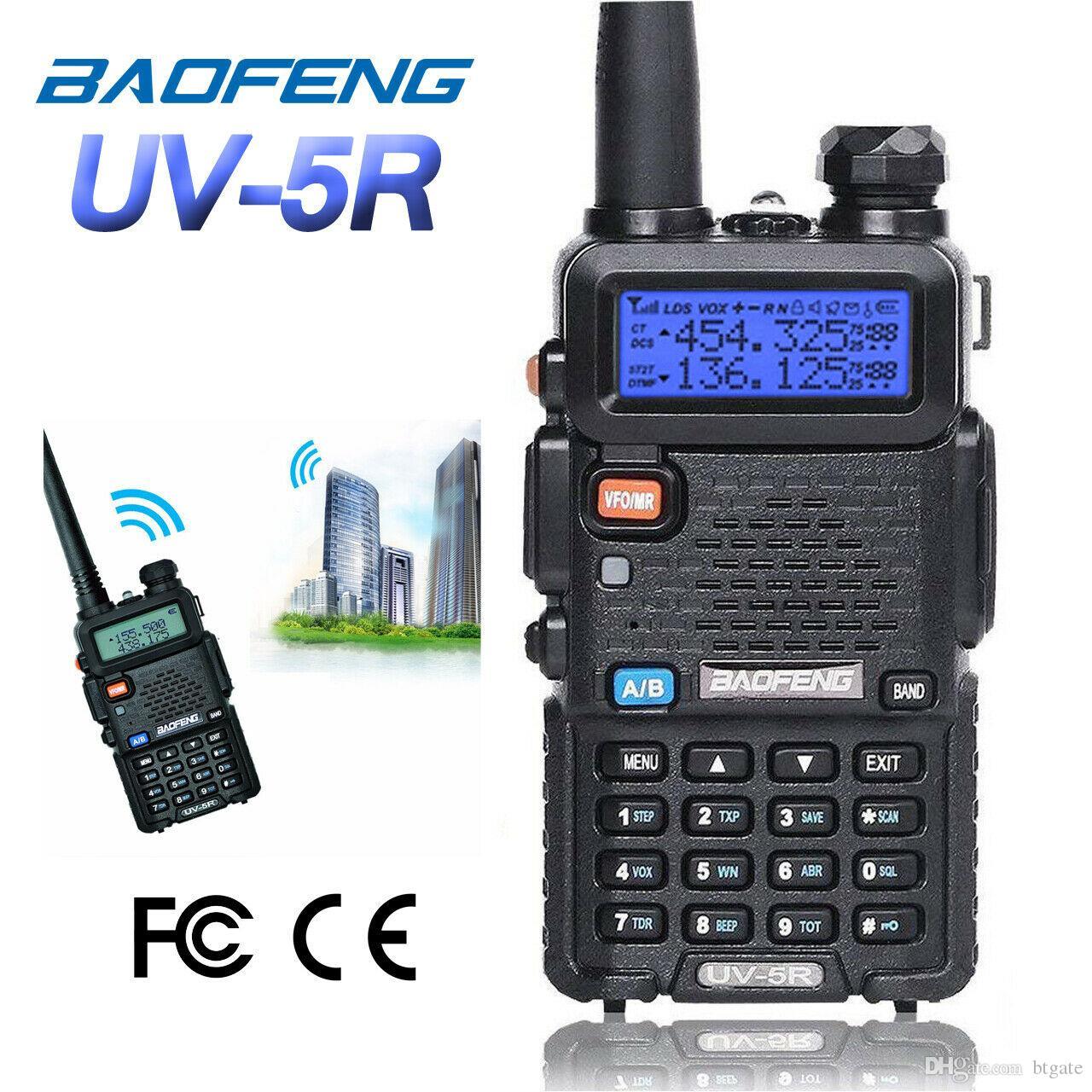 BaoFeng UV-5R UV5R 워키토키 듀얼-밴드 136-174Mhz400-520Mhz1800mAH 건전지를 가진 양용 라디오 송수신기 중대한 거래