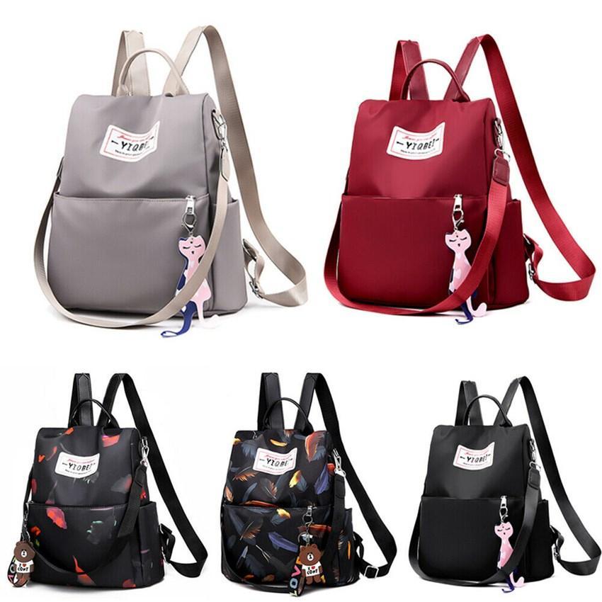 Le nuove signore zaino di colore solido sacchetto di Oxford filatura Sport Tempo di viaggio antifurto borsa a tracolla impermeabile borsa a tracolla stile universitario