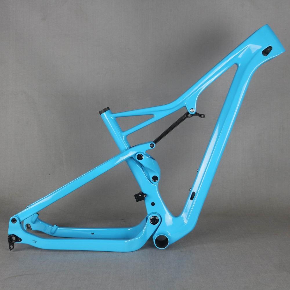 Envío libre impulso 27.5er bastidor de suspensión y 29er MTB Boost cuadro de la bicicleta de carbono XC 29er impulso bastidor de suspensión