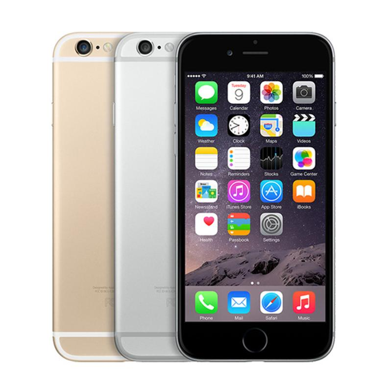 "Original Apple iPhone 6 with Touch ID 4.7"" IOS Dual Core 4G LTE cellphone 16/64/128GB ROM Fingerprint unlocked refurbished mobile iphone6"