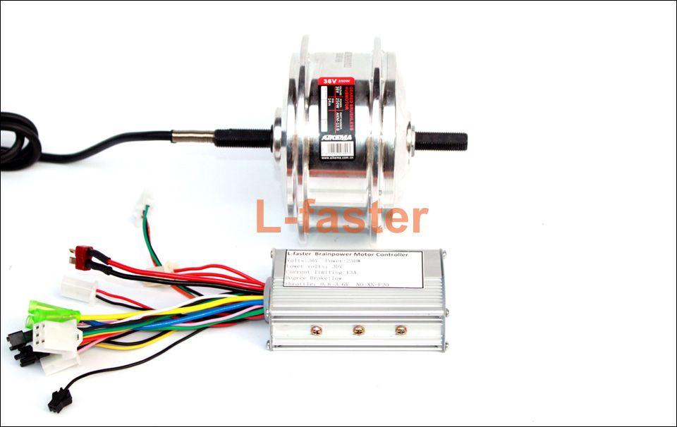 24V36V Electric Bike Brushless Gear Motor With Controller 83mm Width High-speed Hub Motor Light Bicycle Spoke Motor Control Unit