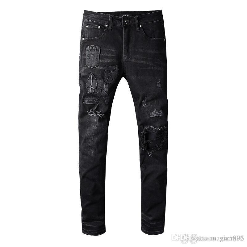 Jean 89U25 Hip Designer jeans stracciati Locomotive Jeans Slim Locomotiva Moda Jeans Uomo 2020 uomini di alta qualità Hop Uomo