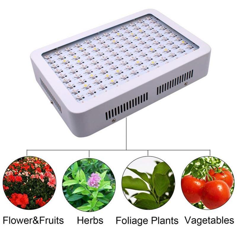 Volles Spektrum 1000W 1200W 1500W 1800W 2000W Doppelchip LED wachsen Lichter rotes blaues UVIR für Zimmerpflanze und Blumen-hohe Qualität