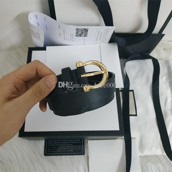2019 Luxus-Gürtel Mode Marke Gürtel Männer und Marke der Frauen Designer Gürtel goldenen Schnallen Partei Jeans freies Verschiffen + mit Kasten