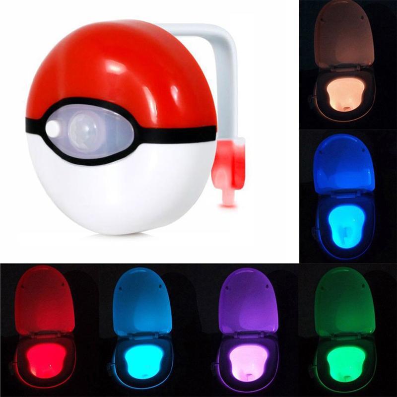 화장실 밤 조명 스포츠 LED 빛 8 색 세탁 가능한 화장실 욕실 완벽 한 장식 및 수도꼭지가없는 욕실에 적합