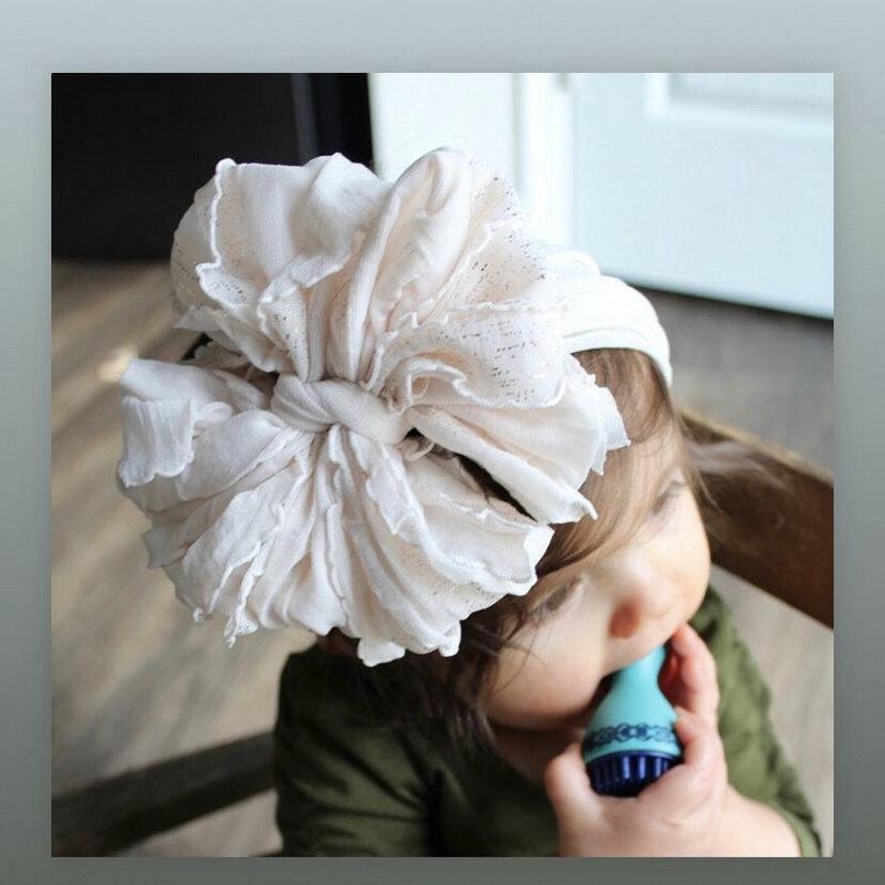 6 Big Bow Nylon Elastic Head Wrap For Girls 2020 Baby Headbands Diy Handmade Soft Floppy Bow Hairband Hair Accessories 6 Big KPYNt