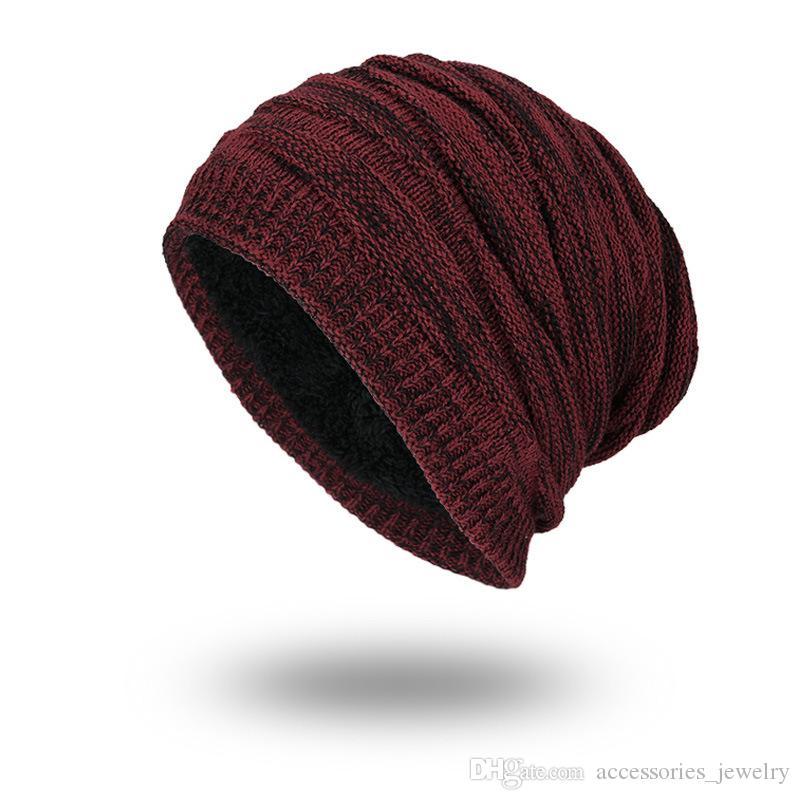 Moda Estilo coreano Arrefecer Handmade Homens de alta qualidade Knit fio de lã Hat Mantenha Cap Outdoor Inverno Engrosse Quente