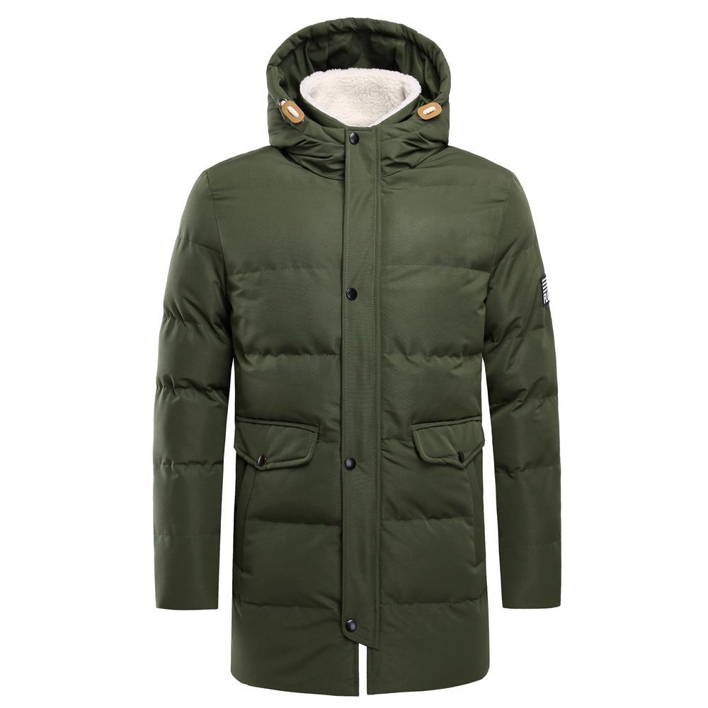 LionPaul 남성용 겨울용 롱 재킷 파카 남성 캐주얼 중형 롱 워터 프루프 Windproof 짙은 색 모자 재킷 Parkas Coat Men