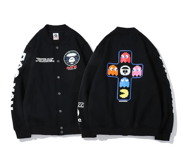 Marca hoodie do APE emblema clássico cheio impresso pichações em torno do pescoço LOGO camisola vendas de roupas de grife pullover de alta qualidade