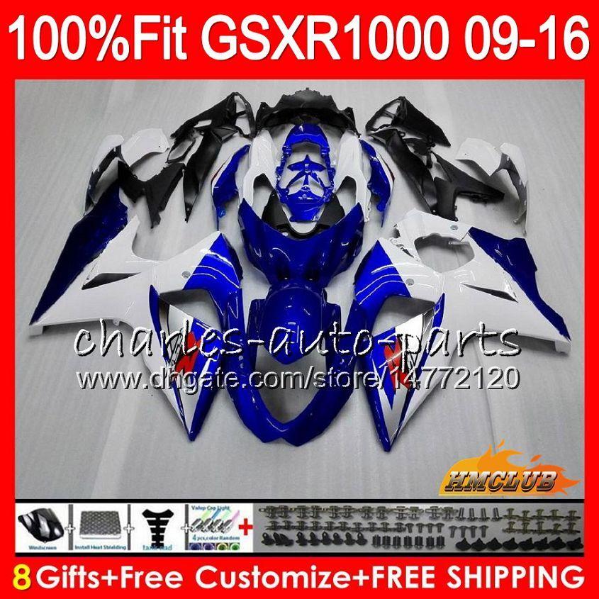 Wstrzyknięcie Suzuki GSXR1000 2009 2011 2012 2014 2014 2015 2016 16HC.1 GSXR-1000 Blue New K9 GSXR 1000 09 10 11 12 13 15 16 Owalnia