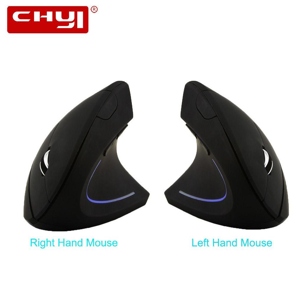 Chyi Ergonomische Vertical Mouse Wireless-Rechts / links Hand Computer Gaming Mäuse 5d optische USB-Maus Gamer Mause für Laptop-PC-Spiel T190627