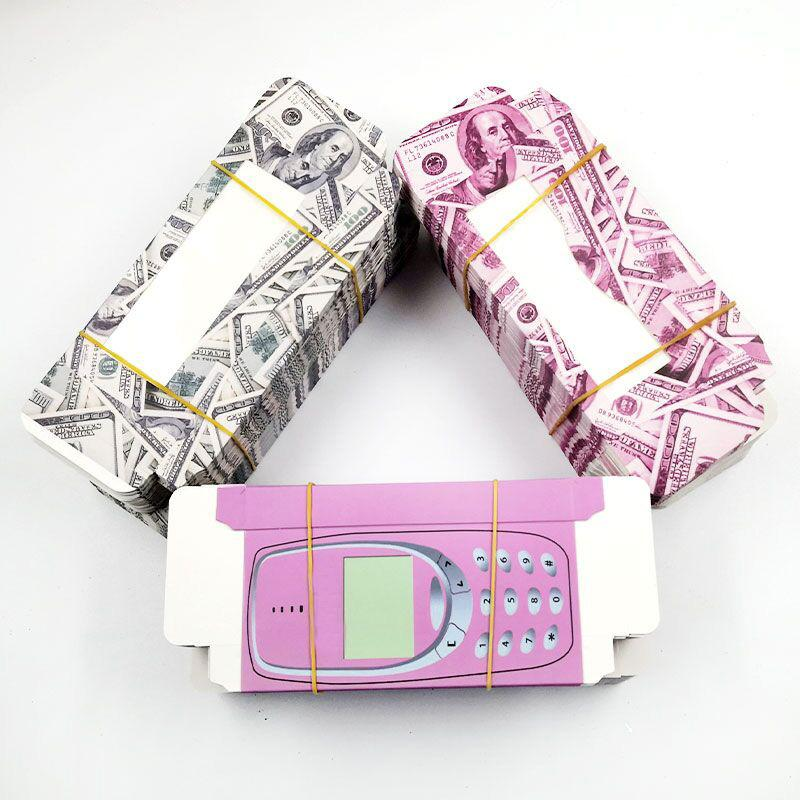 50pcs Wholesale falsche Wimper Geld Verpackungskarton Cash Box Rosa Individuelle Handy-Mobile 3D peitscht Holographie-Kästen