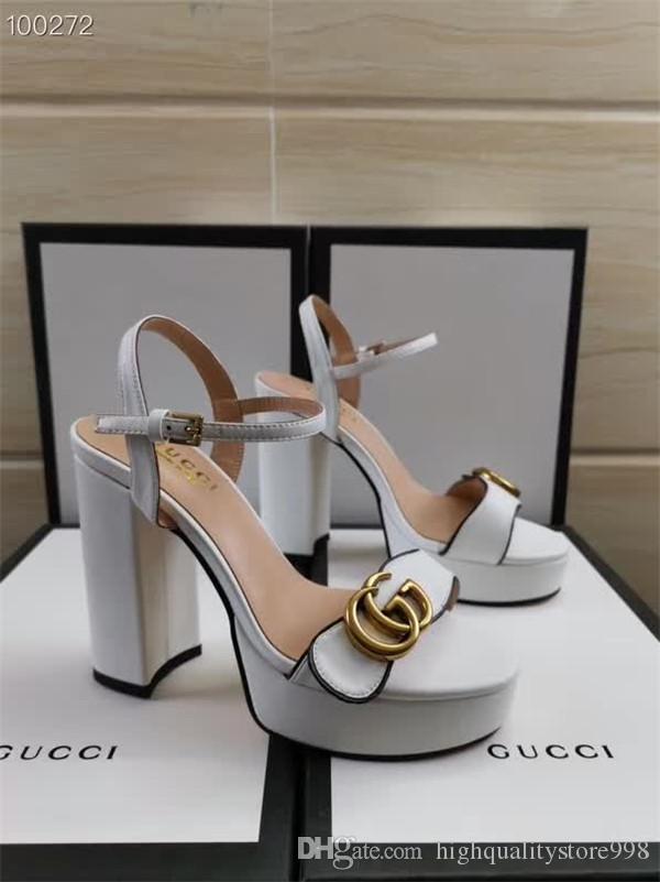 hauts talons femmes chaussures sandales pantoufles pantoufles sandales Les dernières talons de plats de la marque Party Banquet chaussures de pêcheur de mariage 332