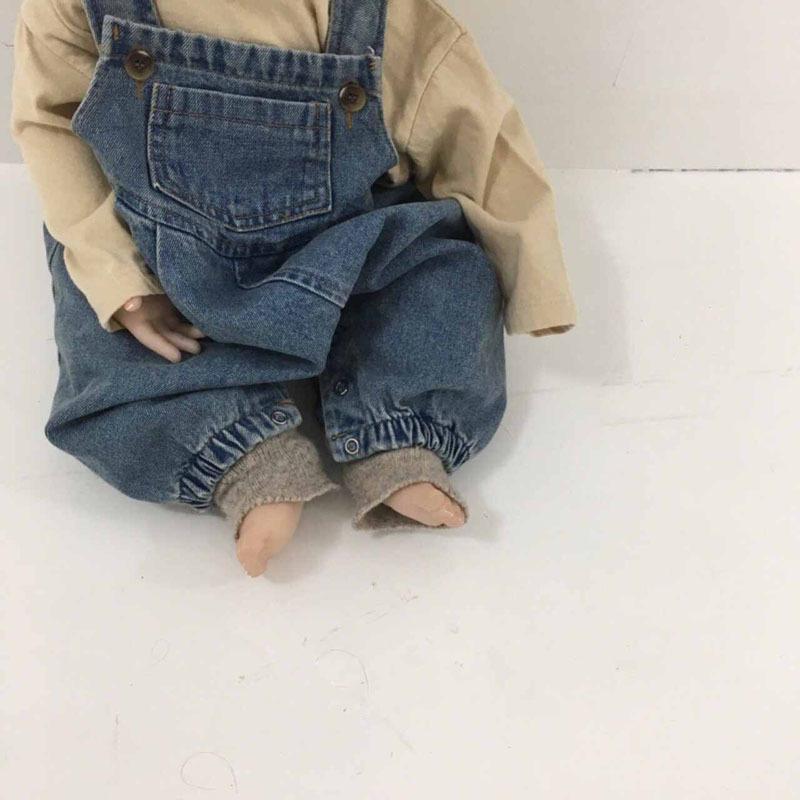MILANCEL bebek tulum yeni bebek kız tulum erkek jumpsuits bebek tulumu denim bahar Y200623