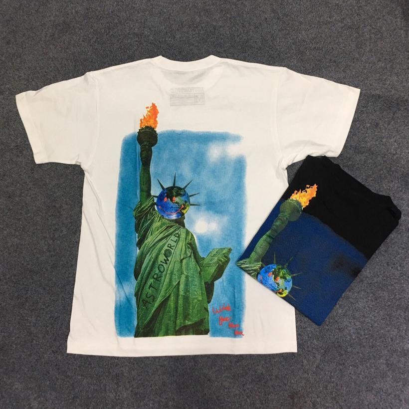 Travis Scott Tshirt Anstronaut Astroworld Tour Tie Dyeing T Shirt Men Streetwear Camouflage Mens Women's Travis Scott T-shirt