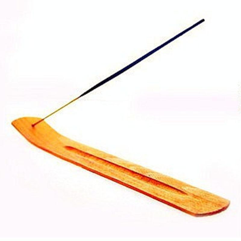 طبيعي عادي خشب البخور عصا الرماد الماسك الشعلة حامل خشبي البخور العصي حامل الديكور المنزلي GH196